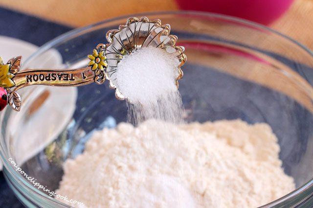 Add salt to bowl