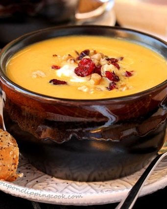 Slow Cooker Creamy Butternut Squash Soup with Apple