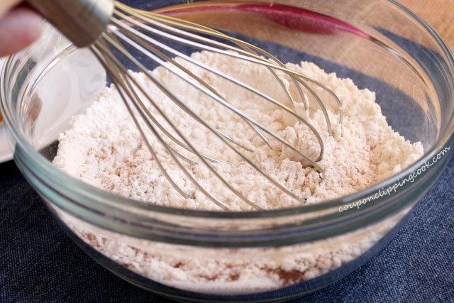 Whisk dry ingredients in bowl