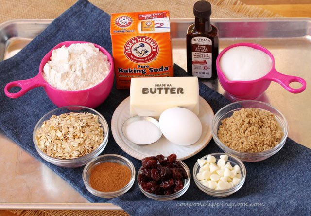 Cherry Oatmeal Cookie Ingredients
