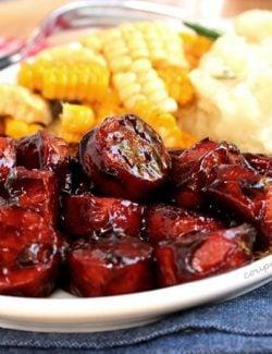 Smoked Sausage with BBQ Sauce