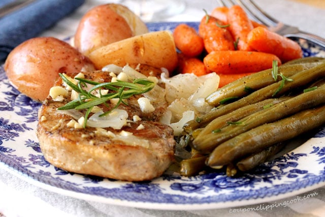 Pork Chops with Potatoes and Carrots