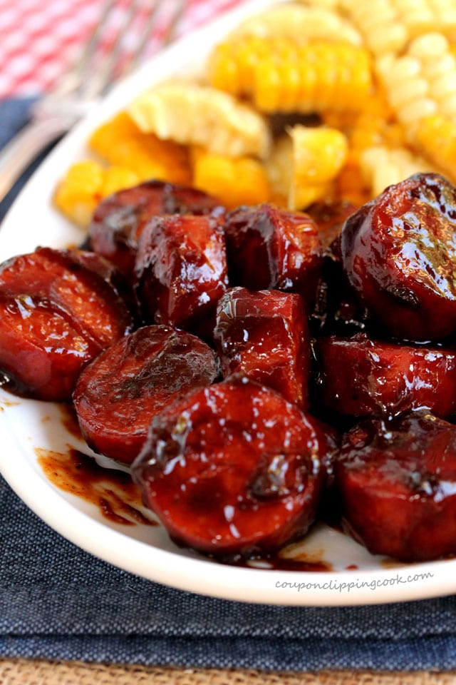 Smoked Sausage with BBQ Sauce