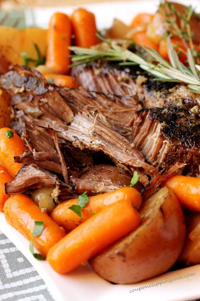 Pot Roast, Potatoes, Carrots with Gravy