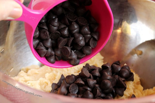 Add expresso morsels to cookie dough