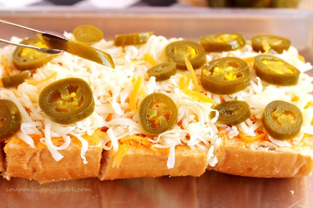 Add jalapeno on bread
