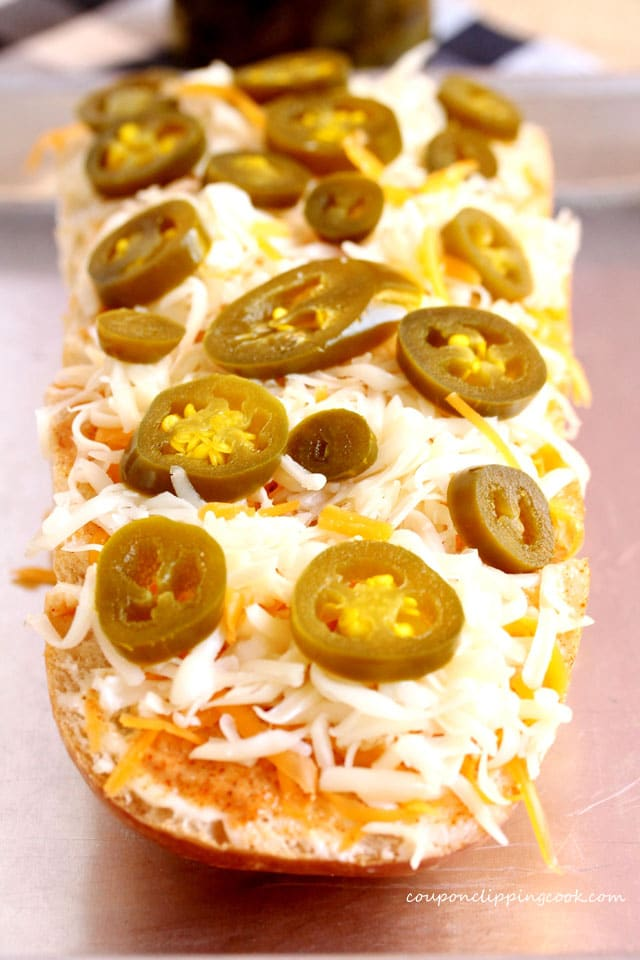 Cheese and Jalapeno on Bread