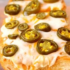Cheesy Jalapeno Garlic Bread