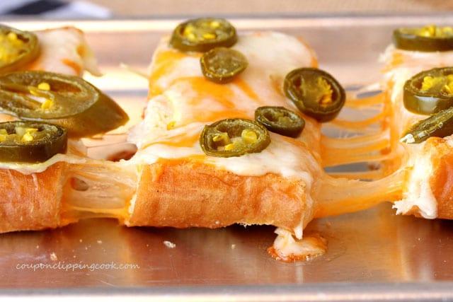 Cheesy Jalapeno Garlic Bread on pan