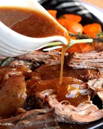 Slow Cooker Pot Roast with Potatoes, Carrots and Gravy