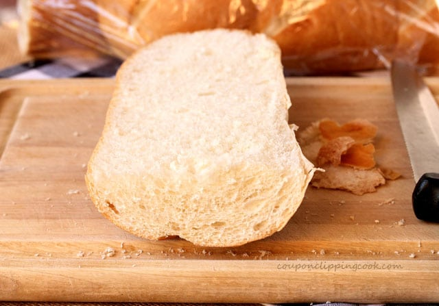 Cut piece of french bread