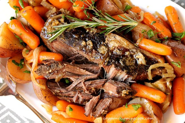 Slow Cooker Pot Roast with Potatoes and Gravy
