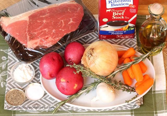 Pot Roast with Gravy Ingredients