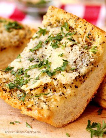 Easy Italian Seasoned Garlic Bread Recipe