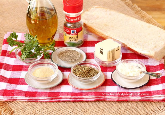Italian Garlic Bread Ingredients