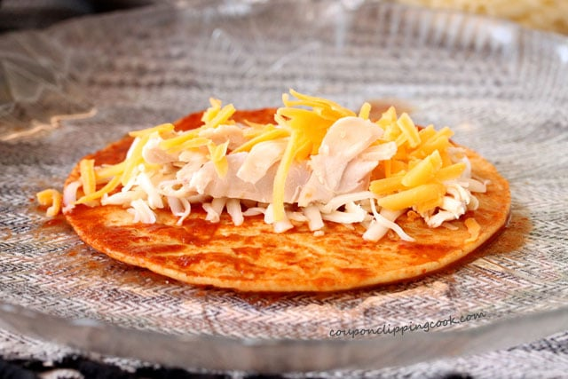 Cheese Chicken on Tortilla