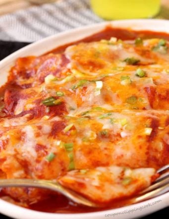 Easy Homemade Chicken & Cheese Enchiladas