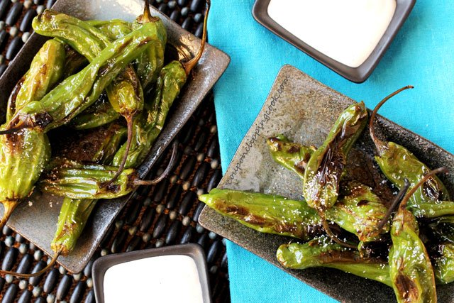 Blistered Shishito Peppers with Crunchy Salt