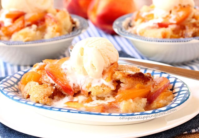 Peach and Nectarine Cobbler