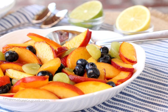 Peach and Blueberry Fruit Salad