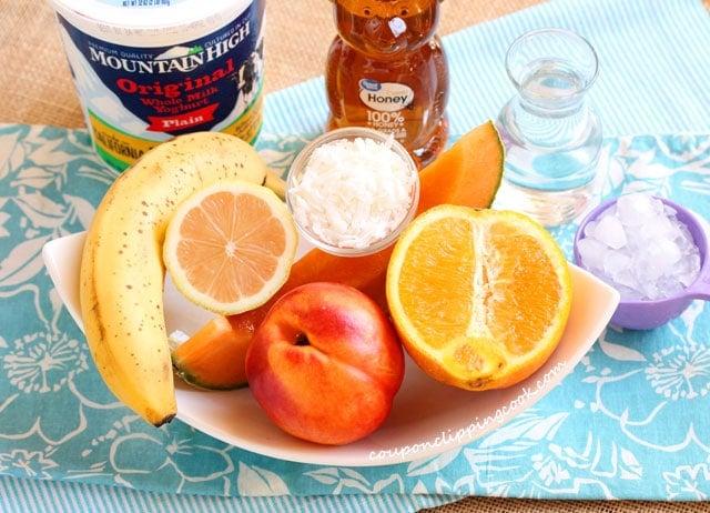 Nectarine Orange Smoothie Ingredients