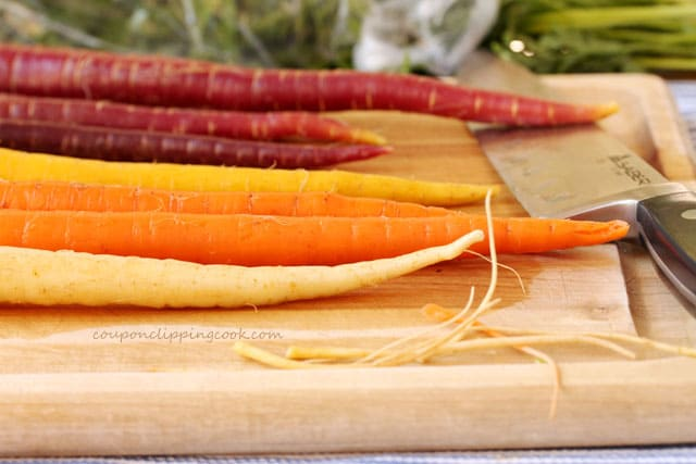 Carrots on Cutting Board