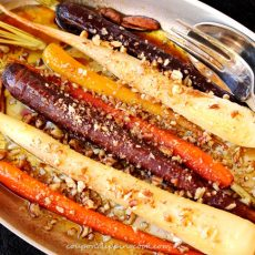 Maple Roasted Carrots in Pan