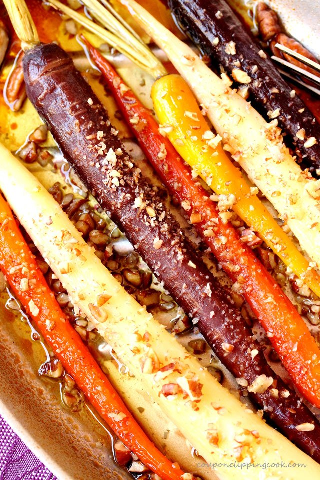 Maple Pecan Baked Carrots