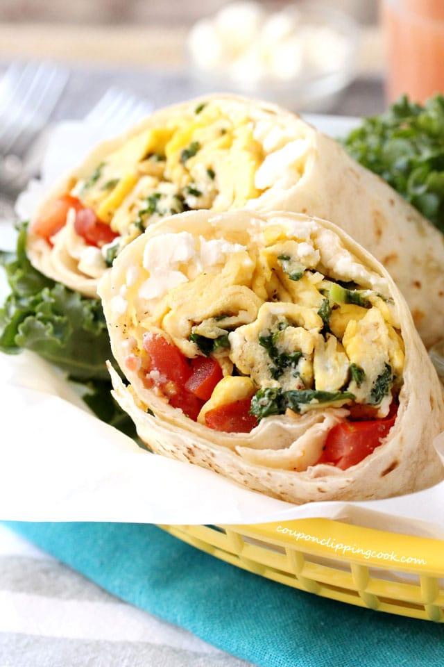 Kale Feta Egg Wrap