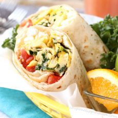 Kale Feta and Egg Wrap