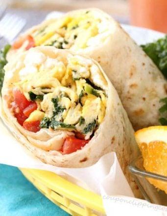 Kale, Feta and Egg Wrap