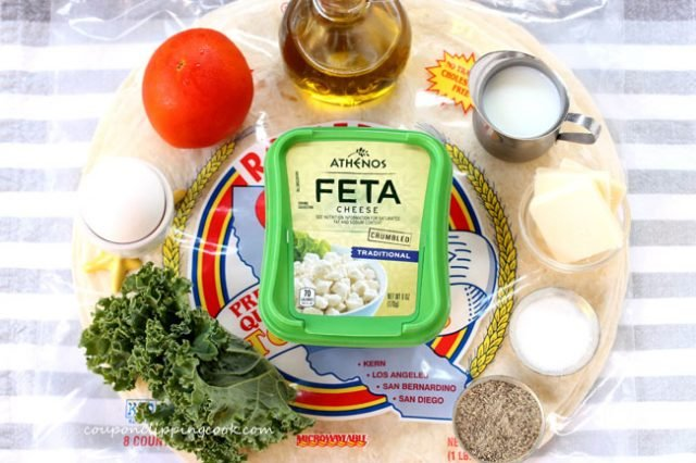 Kale Feta Egg Wrap Ingredients