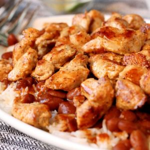 Spicy Chicken Rice and Beans