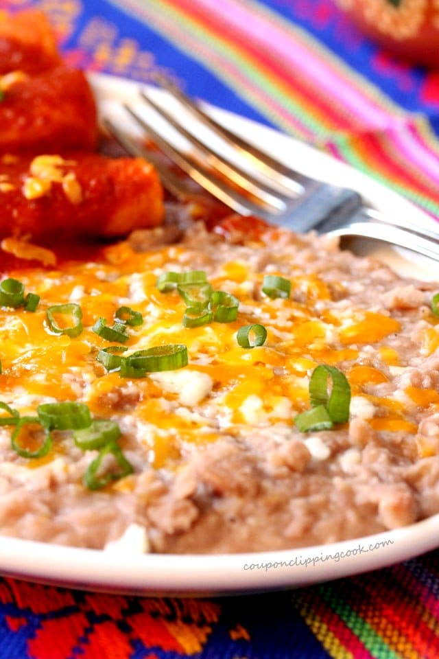 Refried Beans with Cheese