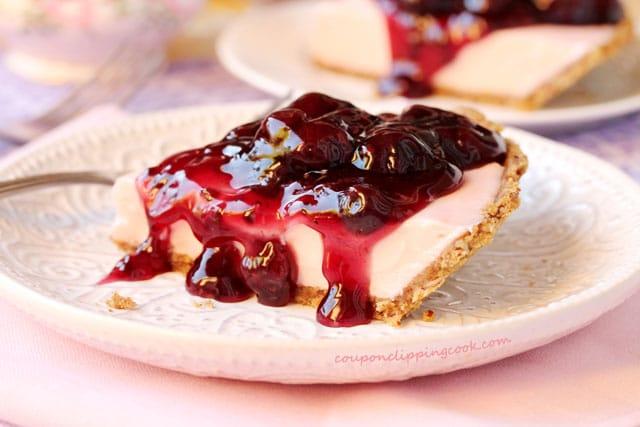 Pink Cherry Cheese Pie