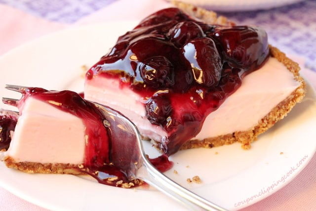 Pink Cheese Pie with Berries