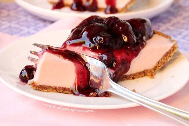 Cut Cherry Cheese Pie