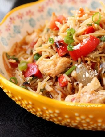 Fideo Pasta and Chicken One-Skillet Meal