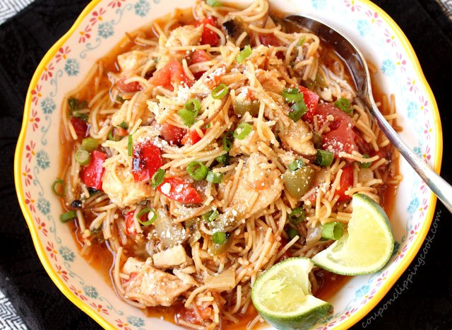 Fideo Pasta Chicken and Vegetables