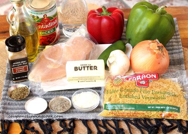 Fideo Pasta Ingredients