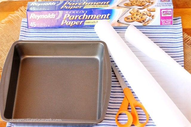 Brownie pan parchment paper