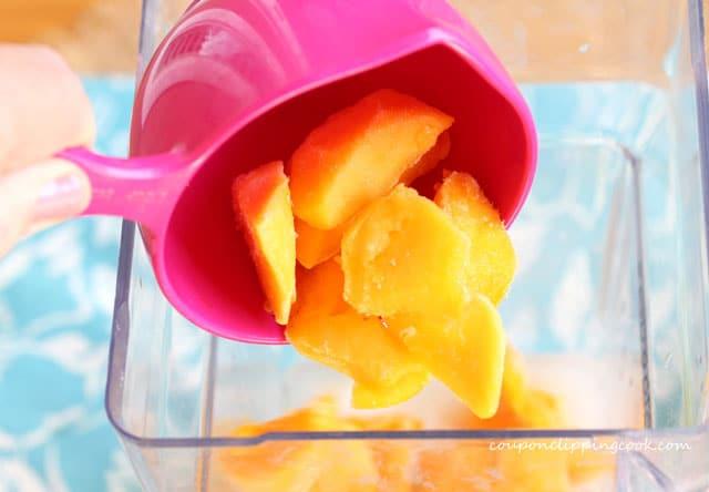 Add mango chunks to blender