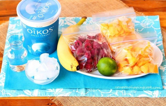 Mango Raspberry Smoothie Ingredients