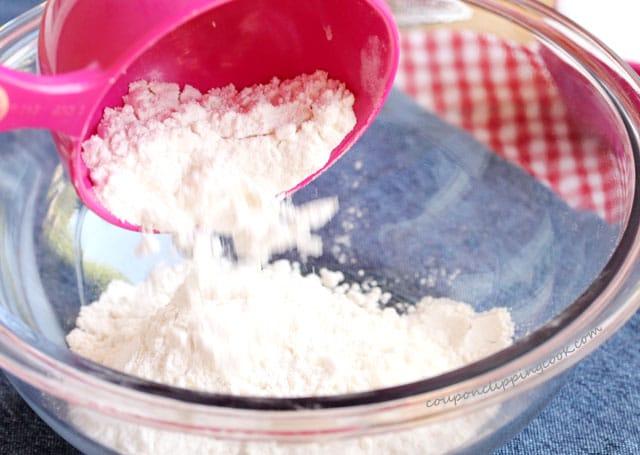 Add flour to bowl
