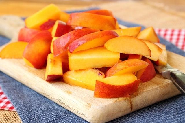Sliced peaches for cobbler