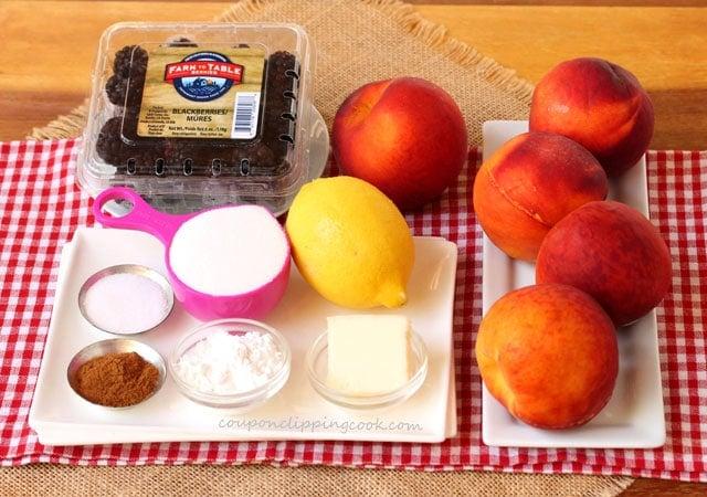 Peach Blackberry Cobbler Ingredients